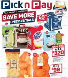 Pick n Pay Western Cape :  Save More On Essentials (29 May - 07 June 2020)