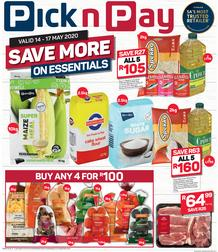 Pick n Pay Western Cape : Save More This Weekend (14 May - 17 May 2020)