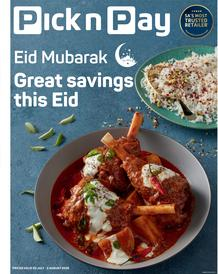 Pick n Pay Western Cape: Eid Mubarak (20 July - 2 August 2020)