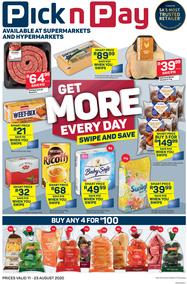 Pick n Pay Western Cape : Get More Everyday (11 August - 23 August 2020)