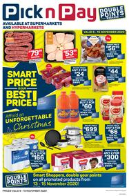 Pick n Pay Western Cape : Smart Price Is Our Best Price (09 November - 15 November 2020)
