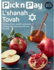 Pick n Pay Western Cape : Celebrate Rosh Hashanah (21 September - 04 October 2020)