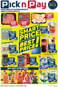 Pick n Pay Western Cape : Smart Price Is Our Best Price (31 August - 06 September 2020)