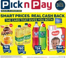Pick n Pay Western Cape : Weekend Deals (28 January - 31 January 2021)