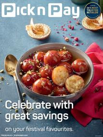 Pick n Pay Western Cape : Celebrate Diwali With Great Savings (02 November - 15 November 2020)