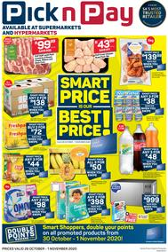 Pick n Pay Western Cape : Smart Price Is Our Best Price (26 October - 01 November 2020)