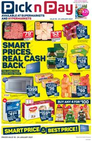 Pick n Pay Western Cape : Smart Price Is Our Best Price (18 January - 24 January 2021)