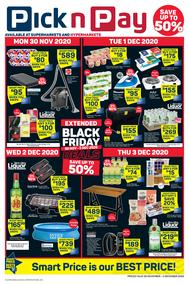 Pick n Pay Western Cape : Extended Daily Deals (30 November - 06 December 2020)