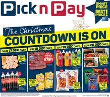 Pick n Pay Western Cape :  The Christmas Countdown Is On (17 December - 20 December 2020)