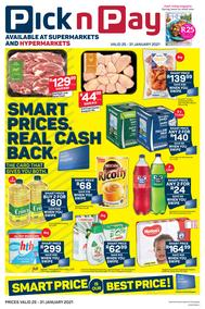 Pick n Pay Western Cape : Smart Price Is Our Best Price (25 January - 31 January 2021)