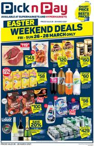 Pick n Pay Western Cape : Easter Weekend Deals (26 March - 28 March 2021)