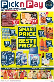 Pick n Pay Kwazulu-Natal : Smart Price Is Our Best Price (21 September - 27 September 2020)