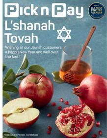 Pick n Pay Kwazulu-Natal :  Celebrate Rosh Hashanah (21 September - 04 October 2020)
