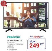 "Hisense 39"" Full HD LED TV HX39N2176F"