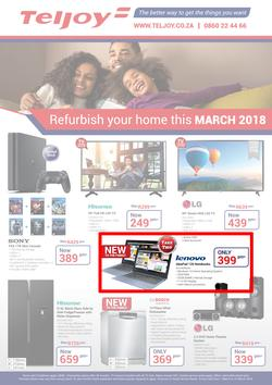 Teljoy : Refurbish Your Home This March (1 March - 31 March 2018), page 1
