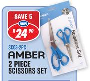 Amber 2 Piece Scissors Set SC03-2PC