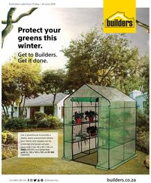 Builders : Protect Your Greens This Winter (21 May - 24 June 2018)