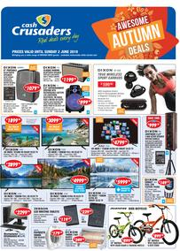Cash Crusaders : Awesome Autumn Deals (10 May - 2 June 2019)