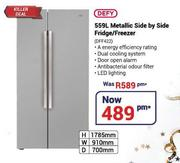 Defy 559Ltr Metallic Side By Side Fridge/Freezer DFF422