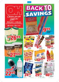 OK Foods Western Cape : Back To Savings (07 April - 11 April 2021)