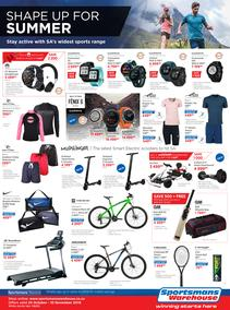 Sportsmans Warehouse : Shape Up For Summer (24 Oct - 10 Nov 2019)