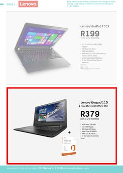 Special Lenovo Ideapad 110 With Free Microsoft Office 365 — www