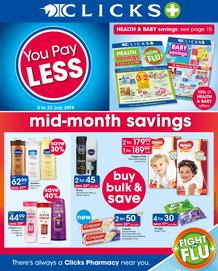 Clicks : You Pay Less (5 July - 22 July 2019)