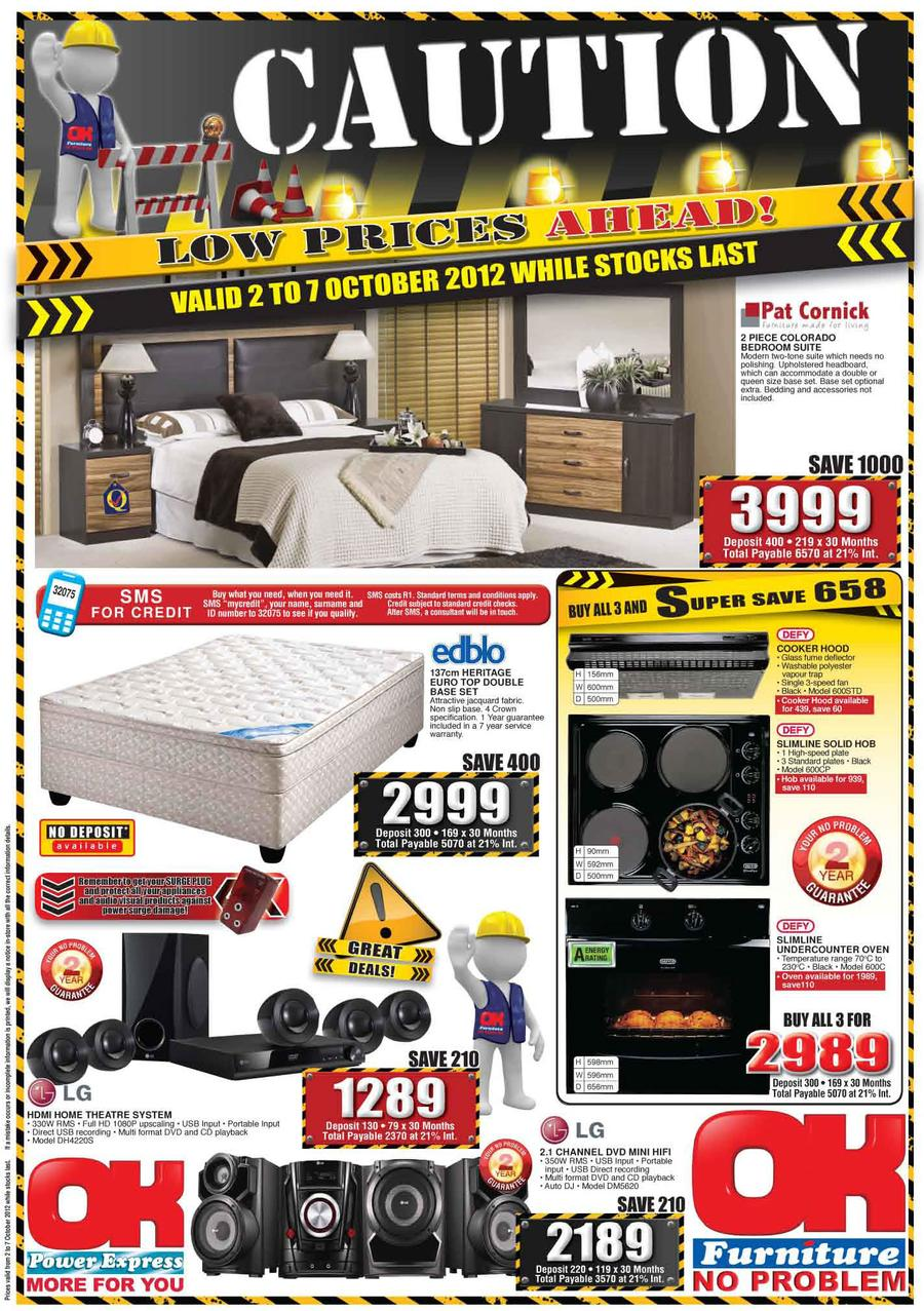 Ok Furniture Caution Low Prices Ahead 2 Oct 7 Oct M Guzzle Co Za