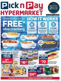 Pick n Pay Hypermarket : Free Vivo Crockery (20 May - 2 Jun 2019)