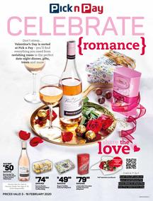Pick n Pay : Celebrate Romance (3 Feb - 16 Feb 2020)