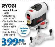 Special Ryobi Laser Liner Ll 650 Wwwguzzlecoza