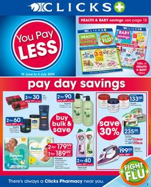 Clicks : You Pay Less (19 June - 4 July 2019)
