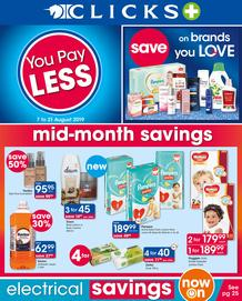 Clicks : You Pay Less (7 Aug - 21 Aug 2019)