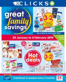 Clicks : Great Family Savings (23 Jan - 4 Feb 2019)