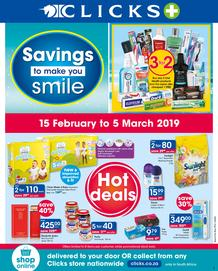 Clicks : Savings To Make You Smile (15 Feb - 5 March 2019)