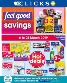 Clicks : Feel Good Savings (6 Mar - 21 Mar 2019)