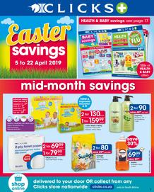 Clicks : Easter Savings (5 Apr - 22 Apr 2019)