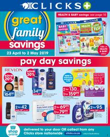 Clicks : Great Family Savings (23 Apr - 2 May 2019)