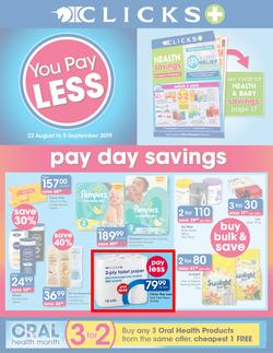 Clicks : You Pay Less (22 Aug - 5 Sept 2019), page 1