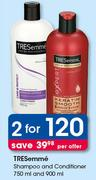 Tresemme Shampoo And Conditioner 750ml And 900ml-For 2