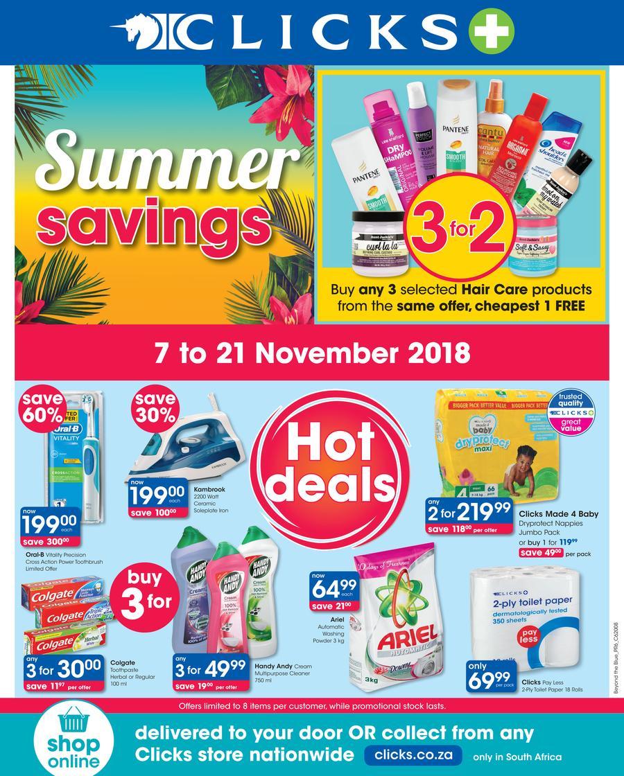 Clicks : You Pay Less (7 Nov - 21 Nov 2018) — m guzzle co za
