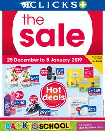 Clicks : The Sale (25 Dec - 8 Jan 2018)