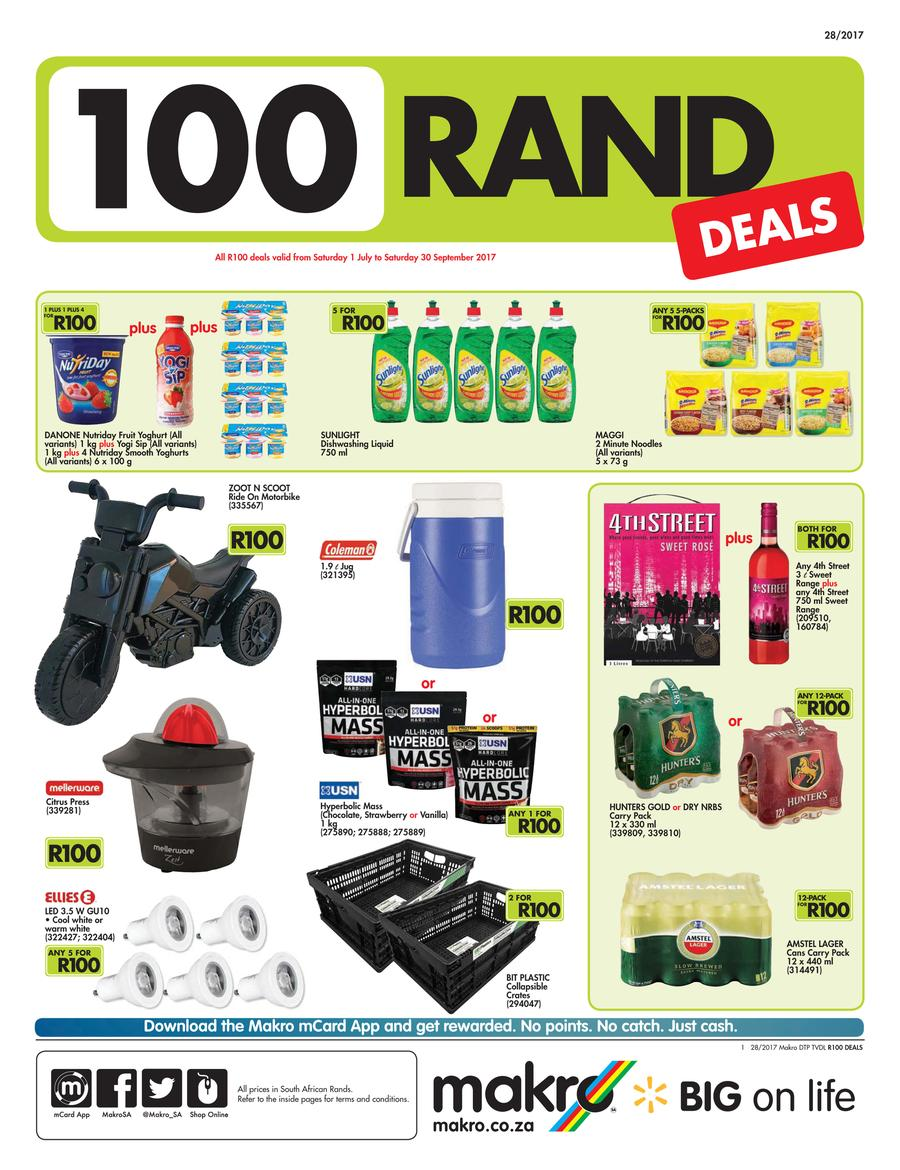 Makro R100 Deals 01 Jul 30 Sep 2017 Page 1