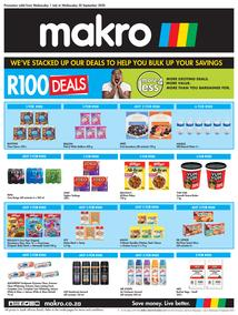 Makro : R100 Deals + More4Less Deals (01 July - 30 September 2020)