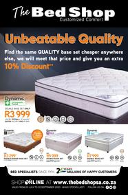 The Bed Shop : Unbeatable Quality (20 July - 20 September 2020)