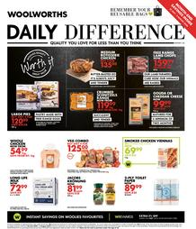Woolworths Western Cape : Daily Difference (20 July - 2 August 2020)