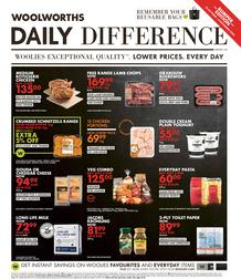 Woolworths Western Cape & Eastern Cape : Daily Difference (26 October - 8 November 2020)