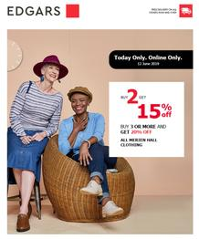 Edgars : Deals (12 Jun 2019 - While Stocks Last)