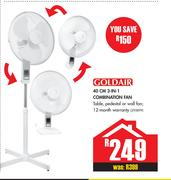 Goldair 40cm 3 In 1 Combination Fan