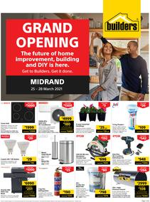 Builders Midrand : Grand Opening (25 March - 28 March 2021)